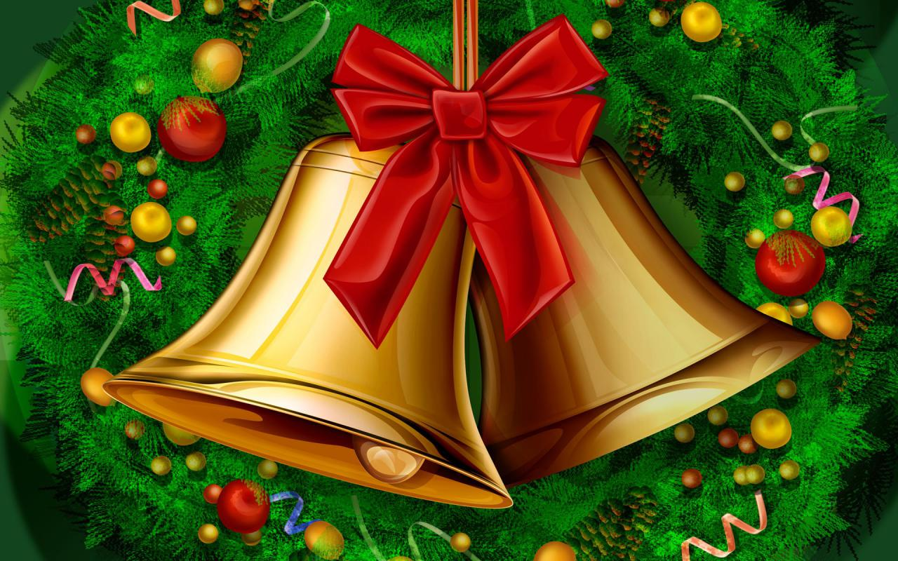 FONDOS DE NAVIDAD - FONDOS NAVIDEÑOS Campanas-de-Navidad-Gratis