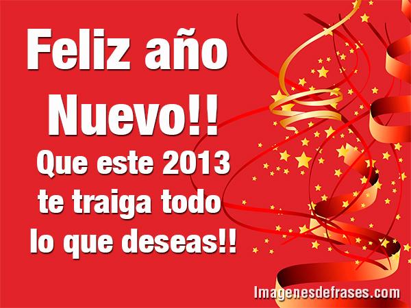 Deseos de feliz Año 2013