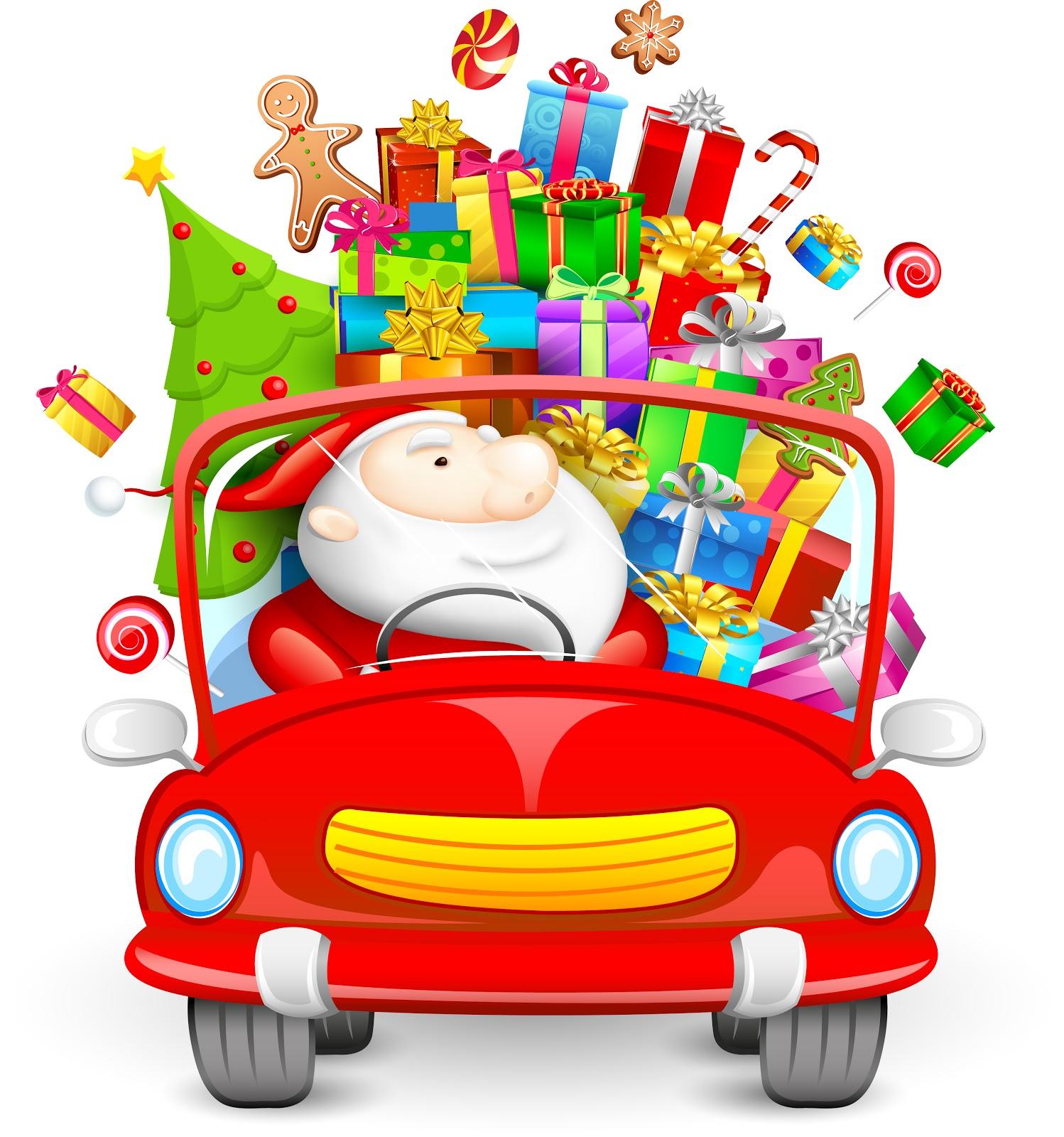 Imagenes de Navidad Papa Noel Con regalos